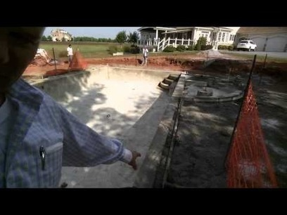 Patio ledge support on a Browning concrete pool   Browning Pools & Spas   Scoop.it