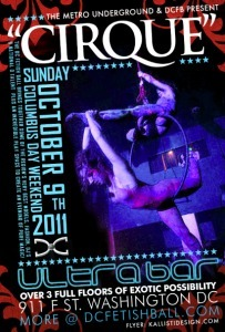 The DC Fetish Ball & Metro Underground present CIRQUE party | LFN - latex fetish news | Scoop.it