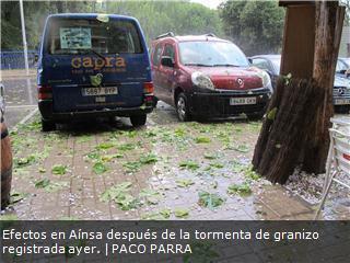 Una tormenta fuerte de pedrisco ocasiona daños en vehículos en Aínsa | Vallée d'Aure - Pyrénées | Scoop.it