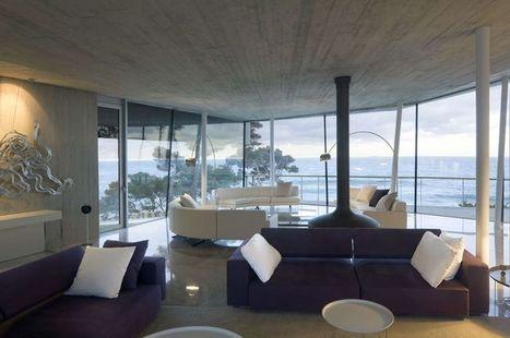 Vaste villa contemporaine avec toit en cuivre en bordure de mer en Catalogne | Construire Tendance | Dans l'actu | Doc' ESTP | Scoop.it