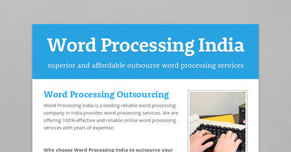 Word Processing India | Word Processing Services | Scoop.it