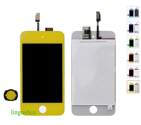 New Genuine Yellow iPod Touch 4 4G LCD+Touch Screen Panel Digitizer Assembly+Home Bottom | hot deals on lingosbox | Scoop.it