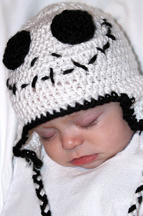 Crochet Baby Skeleton Skull Beanie Halloween Hat Newborn Baby Boy Halloween Costume Outfit | Crocheting for my family | Scoop.it
