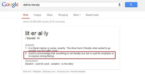 Informal Definition of 'Literally' Spreads Online - GalleyCat | Writing for Social Media | Scoop.it