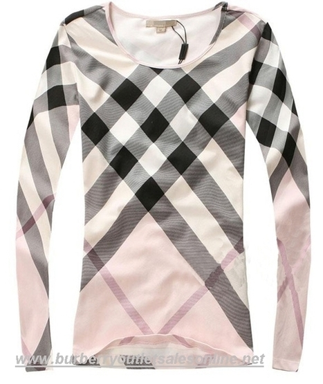 Burberry Classic Grid Women Long Sleeve T-Shirt Pink [B003806] - $108.00 : Burberry Outlet Stores,Burberry Outlet Online,Cheap Burberry For Sale | Burberry Oultet | Scoop.it
