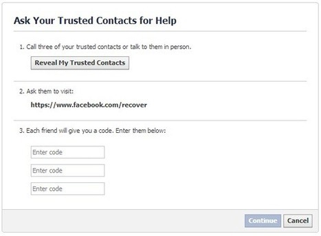Secure your Facebook account with trusted contacts | Sector Techno | Scoop.it