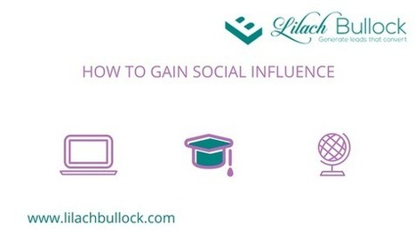How to gain social influence - become a social media influencer | b2bmarketing | Scoop.it
