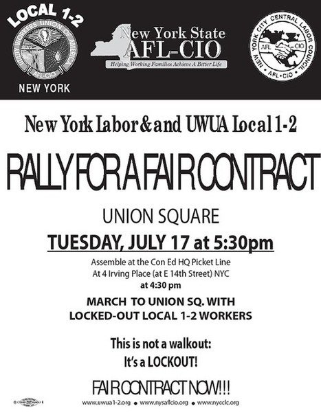 Support Locked-Out Con Ed Workers: Rally for a Fair Contract! | OccupyWallSt.org | Mouvement. | Scoop.it