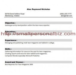 Free Resume Samples Templates For Students With No Experience | Free Printable Template to Download | Scoop.it
