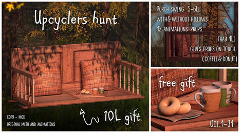 The Upcyclers Hunt | 亗 Second Life Freebies Addiction & More 亗 | Scoop.it