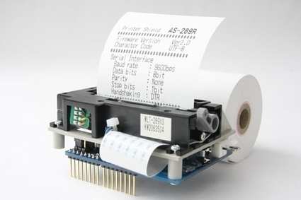 Thermal Printer Shield for Arduino | Open Source Hardware News | Scoop.it