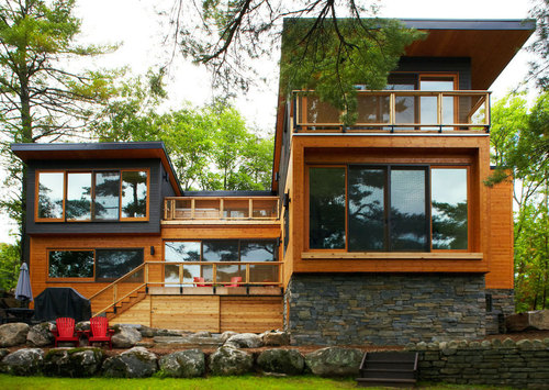 Maison bois et pierre contemporaine – Mary Lake Residence par Altius ...