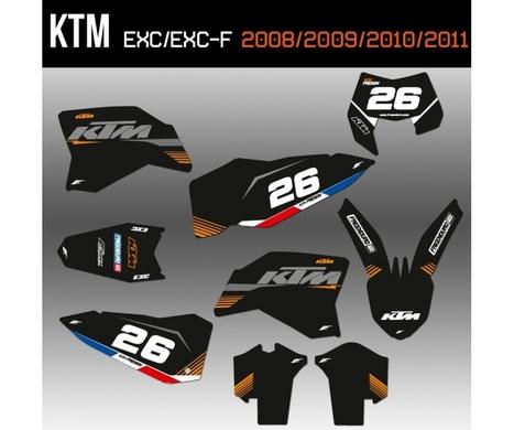 kit deco ktm 125 exc 2008 2009 2010 et 2011 a