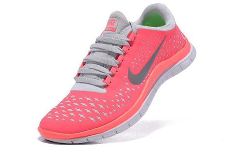 Big Savings Nike Free 3.0 V4 Womens Shoes Hot Punch Pink Silver | nike free pink | Scoop.it