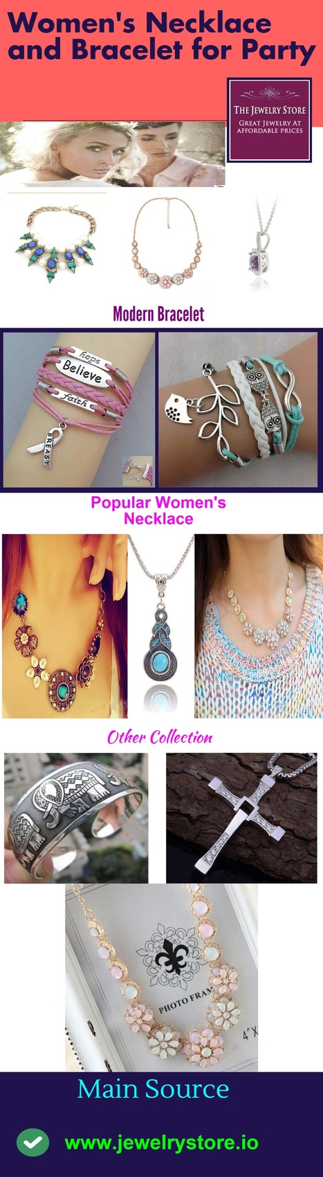 Women's Necklace and Bracelet for Party   Online Shopping   Scoop.it