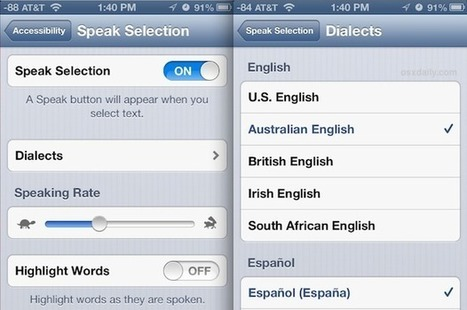 Change the Voice & Accent of Spoken Text Selection in iOS | iPads, MakerEd and More  in Education | Scoop.it