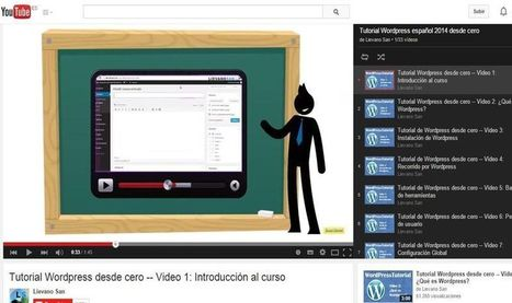 #Wordpress : Cursos desde cero, 33 vídeo tutoriales gratuitos. | Algo donde aprender | Scoop.it