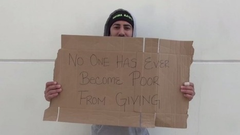 Homeless man gives money away | Strange days indeed... | Scoop.it