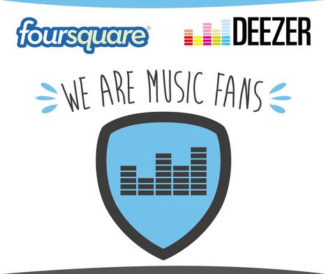 Deezer et Foursquare récompensent les fans de musique ! | L'actualité Référencement, Community Management, DomaWEB - Solution Web & Marketing | Scoop.it