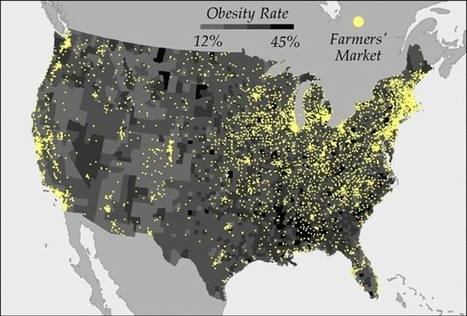Analysis Finds 3x More Farmers' Markets in Areas with the Lowest Obesity Rates | The Geography Classroom | Scoop.it