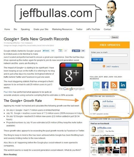 How to Increase Your Google+ Followers | Jeffbullas's Blog | Getting Google Plus | Scoop.it