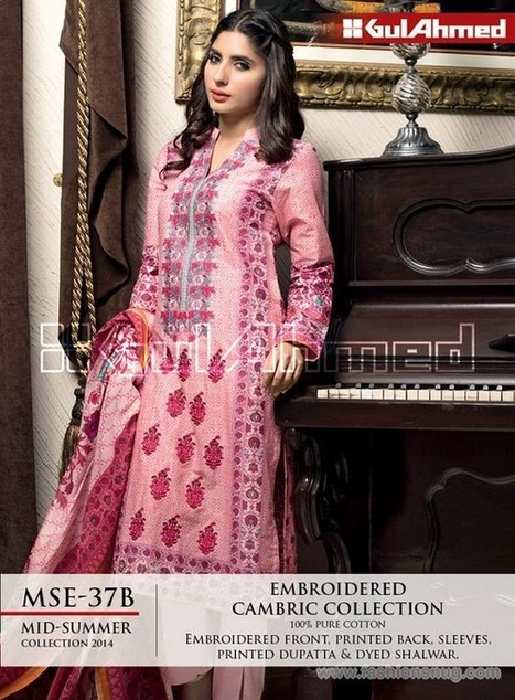 Gul Ahmed Cambric Collection 2014 With Price | Fashion Blog | Scoop.it