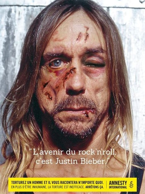 Iggy Pop 'tortured' into liking Justin Bieber in new Belgian ad campaign | Art for art's sake... | Scoop.it