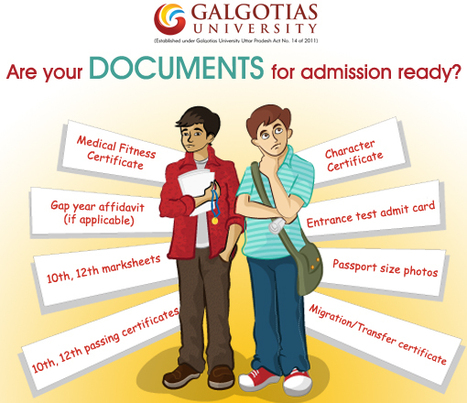 Remember to take all documents for admission counseling | Galgotias University | Scoop.it