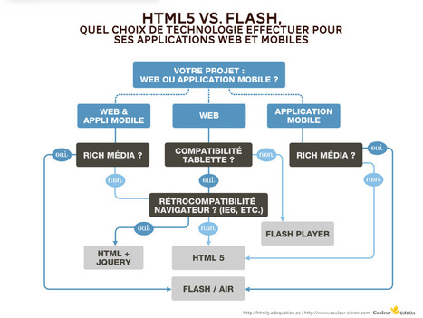 HTML5 vs. Flash, quel choix de technologie effectuer pour ses applications web et mobiles ? par Pierre Priot - Chronique Solutions | DevWeb | Scoop.it