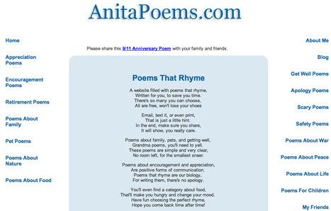 Poems That Rhyme - Beautiful Rhyming Poetry   English   Scoop.it