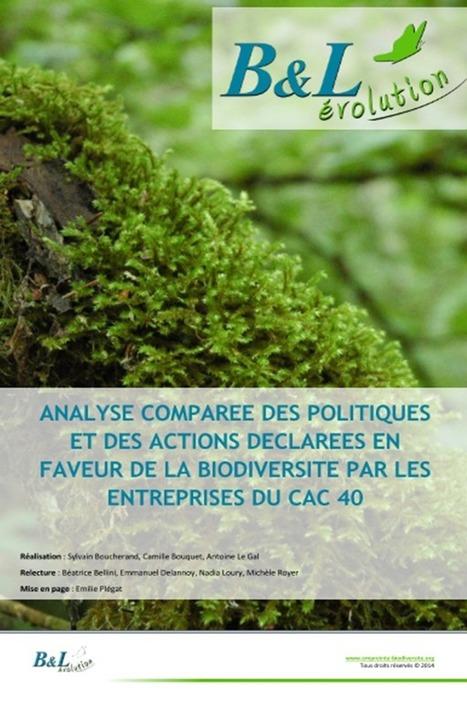 Le score en biodiversité des entreprises du CAC40 | SUSTAINABILITY REPORTING | Scoop.it