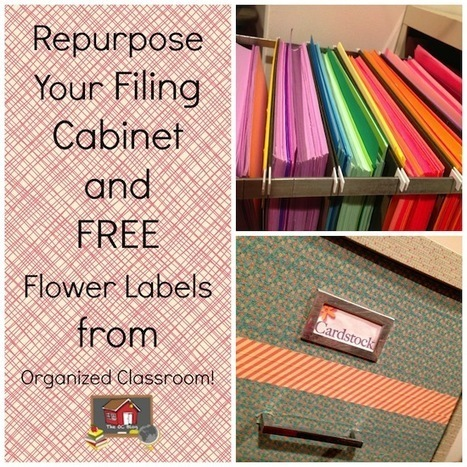 Repurpose That Old Filing Cabinet! - The Organized Classroom Blog | Classroom Organization | Scoop.it