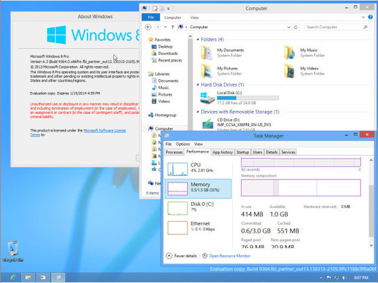 Windows Blue version 9364 leaks to the internet today | Windows Blue