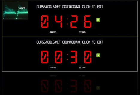 The New Classtools Countdown Timer Offers Multiple Timers Set to Music | SMUSD Share | Scoop.it