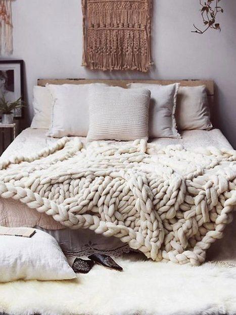Mantas de punto XXL hechas con lana 100% merino | Mil Ideas de Decoración | Decoración de interiores | Scoop.it
