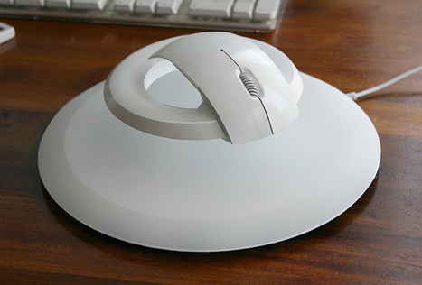 Futuristic Levitating Wireless Mouse Prevents Carpal Tunnel - My Modern Metropolis | fractal love | Scoop.it