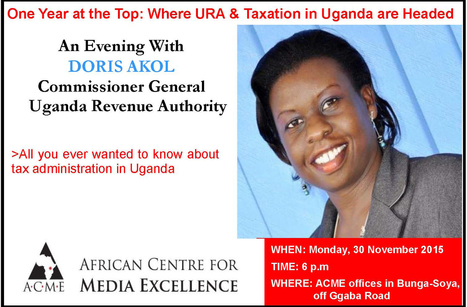 One Year at the Top: An Evening With URA's Doris Akol | Ivan Peter Otim | Scoop.it