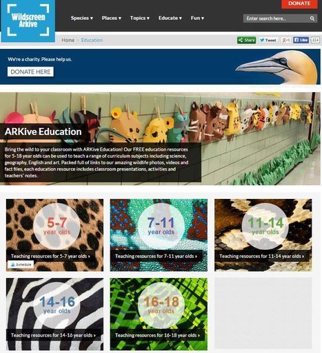 Tops! ARKive (wildlife) Education #scichat #edchat | Education Matters - (tech and non-tech) | Scoop.it