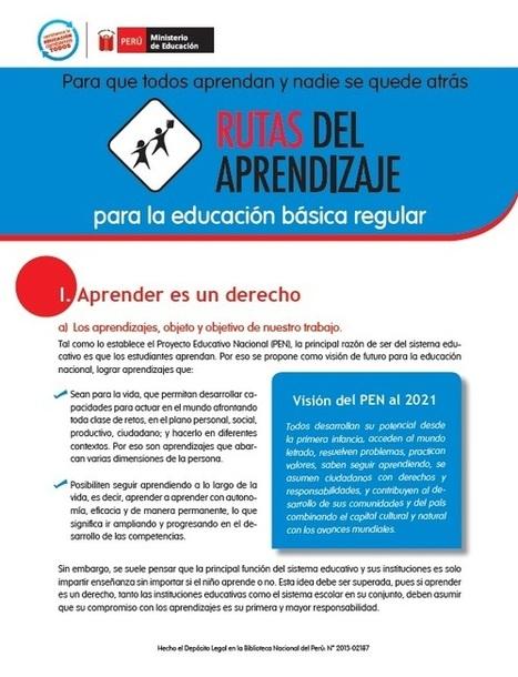 Rutas del Aprendizaje: Herramientas pedagógicas para docentes - Minedu | Rutas de aprendizaje - Diplomatura BMI | Scoop.it