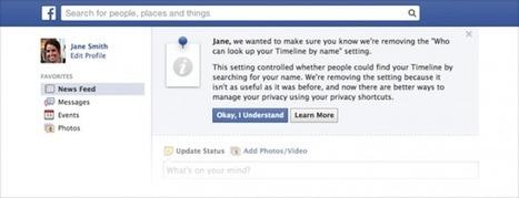 Ya no es posible ocultar perfiles en el buscador de Facebook | redes | Scoop.it