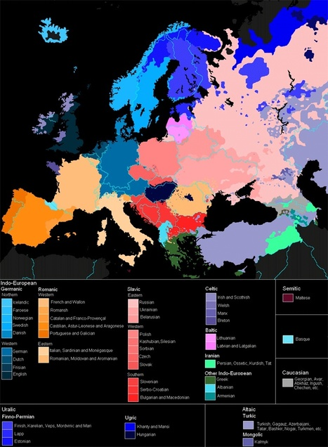 Languages of Europe (map) | TELT | Scoop.it