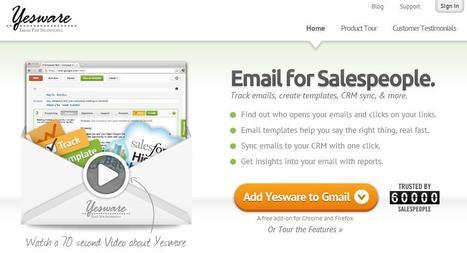 Savoir quand un mail envoyé avec Gmail a été lu, Yesware | Les Outils - Inspiration | Scoop.it