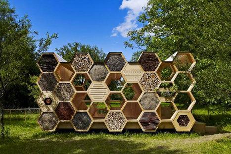 AtelierD's Giant Honeycomb Bee Hotel Attracts Pollinators & Humans Alike | Nicolas | Scoop.it