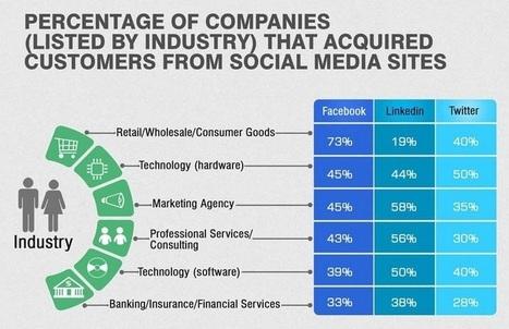 Quels sont les secteurs d'activité qui peuvent espérer gagner des clients grâce aux réseaux sociaux ? | Time to Learn | Scoop.it