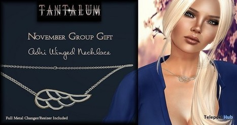 Adri Winged Necklace Group Gift by Tantalum | Teleport Hub - Second Life Freebies | Second Life Freebies | Scoop.it