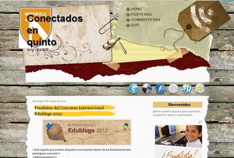 Conectados en quinto Finalista Premio Edublogs 2012 | Bitácora de una profesora digital | Scoop.it