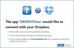 DropItToMe. Permettre l'envoi de fichiers dans votre boîte Dropbox | Moodle and Web 2.0 | Scoop.it