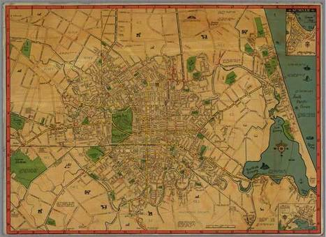 [Christchurch] : [195-?] - Christchurch City Libraries Digital Maps Collection | Walking Christchurch | Scoop.it
