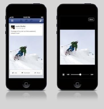 Facebook iOS lit les vidéos automatiquement dans le fil d'actualité ... | Applications productivité - utilitaire - navigation sur smartphones : ios, android et windows | Scoop.it