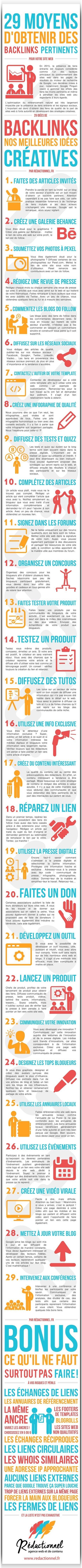 29 astuces SEO pour obtenir des liens externes [Infographie] #Webmarketing   SEO   Scoop.it